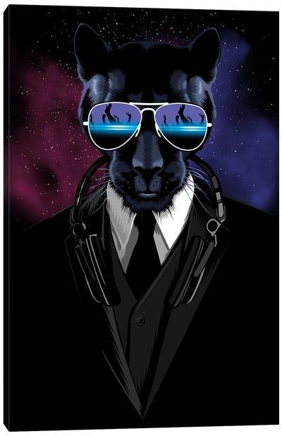 Techno Panther Canvas Art Print