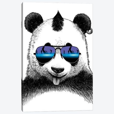 DJ Panda Canvas Print #APZ28} by Alberto Perez Canvas Wall Art