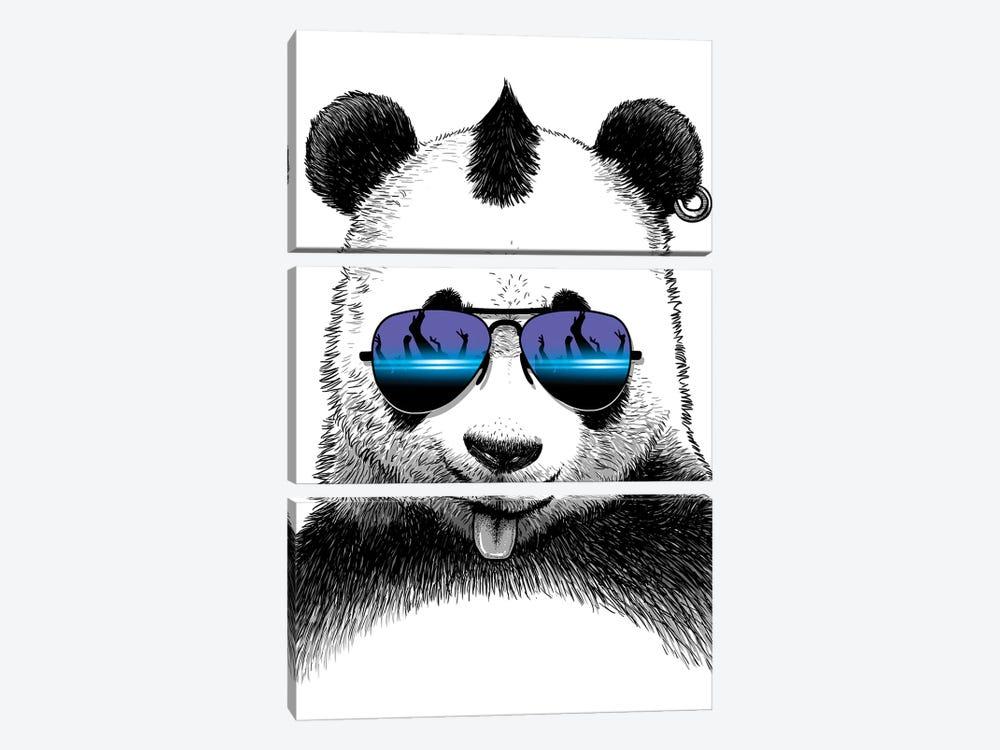 DJ Panda by Alberto Perez 3-piece Art Print