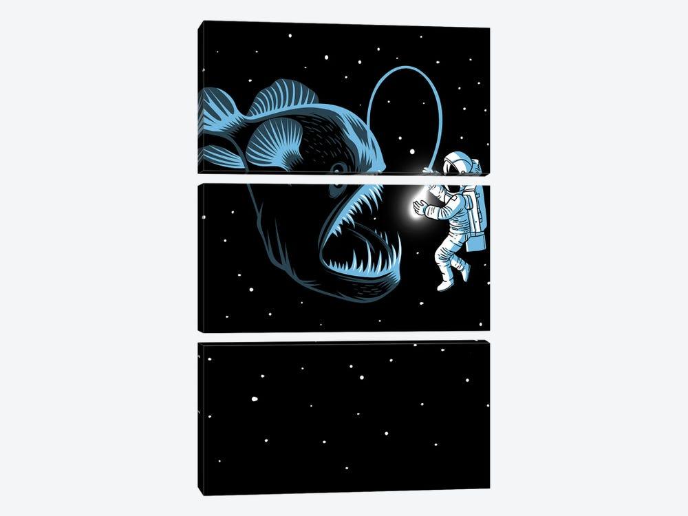 Space Trap by Alberto Perez 3-piece Canvas Wall Art