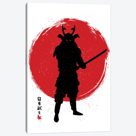 Samurai With Katana Canvas Print #APZ331} by Alberto Perez Art Print