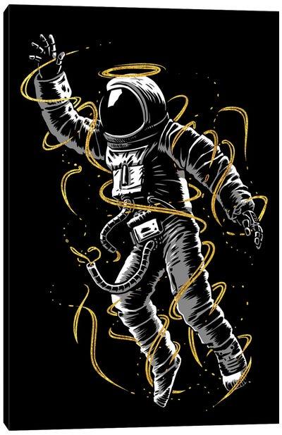 Astronaut Golden Lines Canvas Art Print