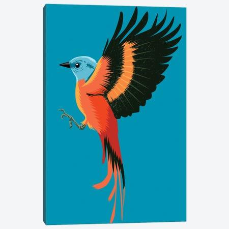Orange Bird Canvas Print #APZ33} by Alberto Perez Art Print
