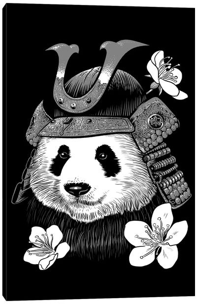 Panda Samurai Canvas Art Print