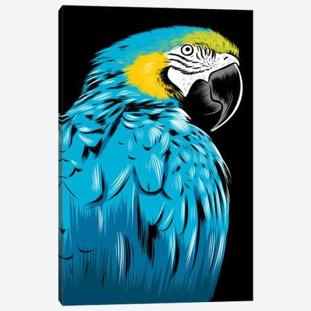 Blue Parrot Canvas Print #APZ347} by Alberto Perez Art Print