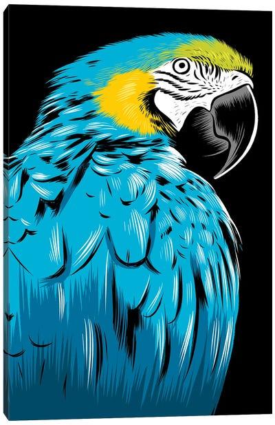 Blue Parrot Canvas Art Print