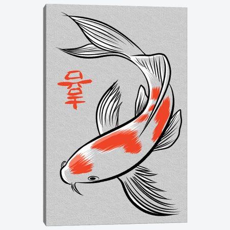 Carp Kanji Canvas Print #APZ348} by Alberto Perez Canvas Wall Art