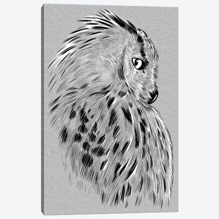 Owl Sketch Canvas Print #APZ349} by Alberto Perez Canvas Art