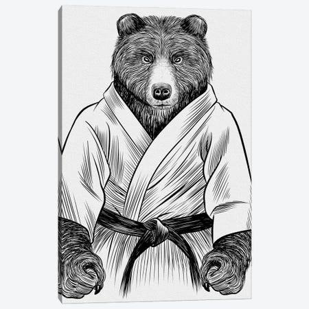 Grizzly Bear Judo Canvas Print #APZ352} by Alberto Perez Canvas Art Print