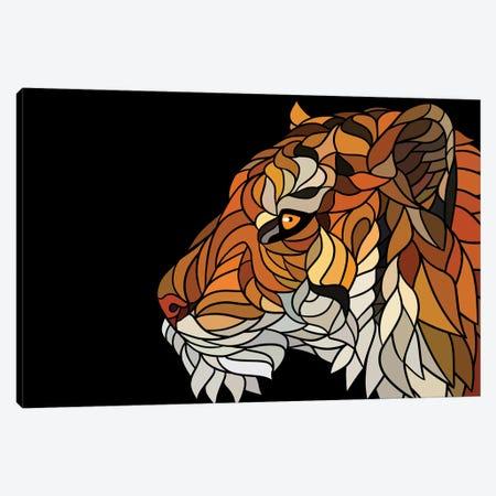 Tiger Modernist Canvas Print #APZ357} by Alberto Perez Canvas Artwork