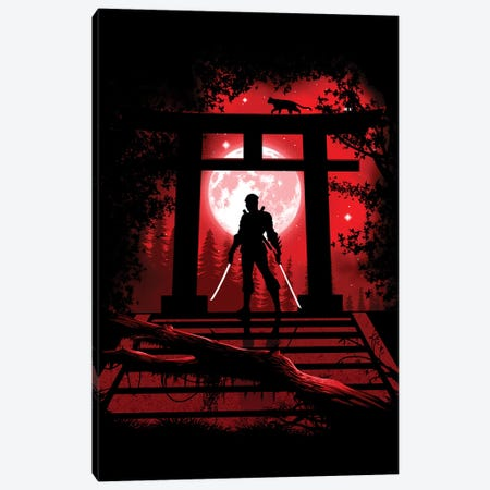 Torii Ninja Canvas Print #APZ373} by Alberto Perez Canvas Print