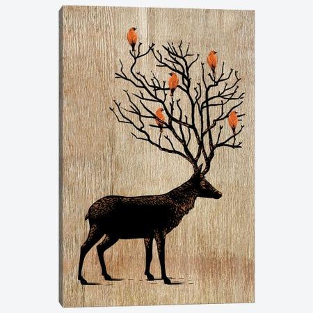 Tree Birds Deer Canvas Print #APZ376} by Alberto Perez Canvas Art