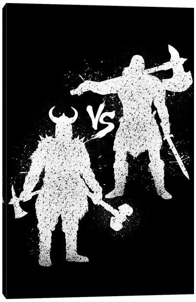 Barbarian Vs Viking Canvas Art Print