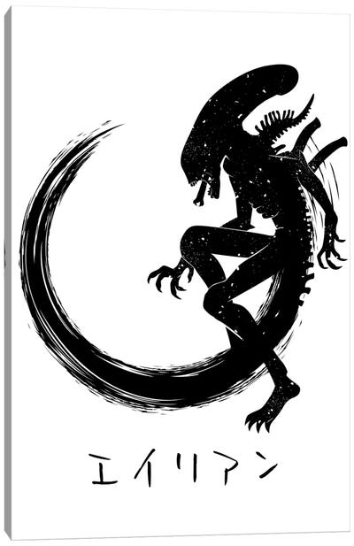 Circle Alien Canvas Art Print