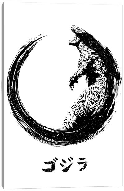 Circle King Of Monsters Canvas Art Print