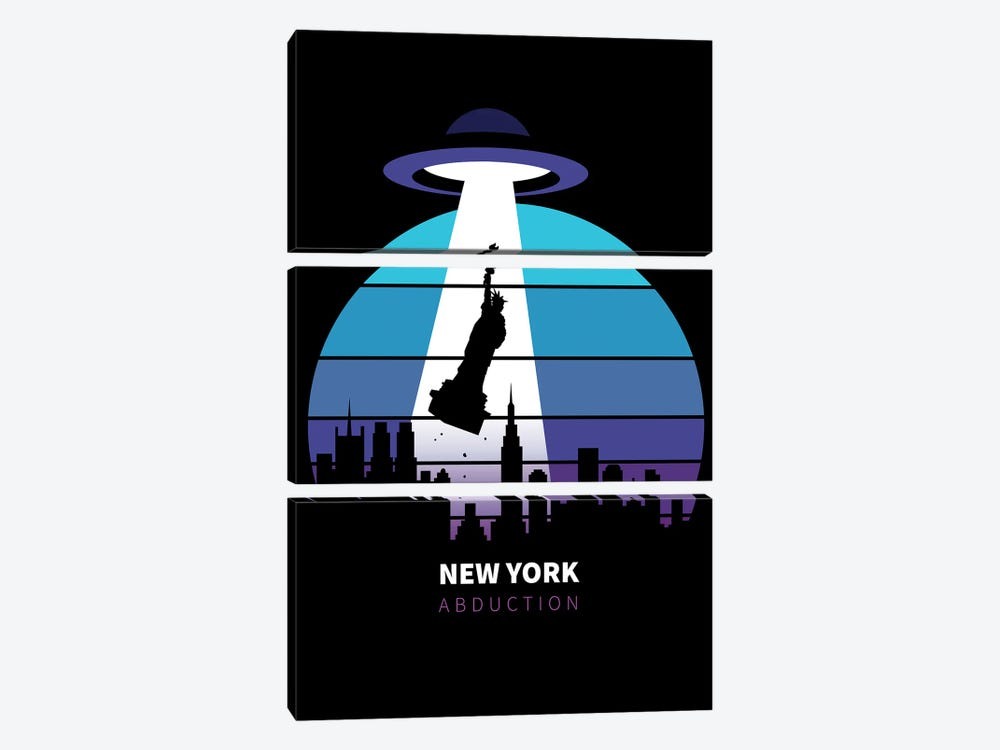 Abduction Of The Statue Of Liberty by Alberto Perez 3-piece Art Print