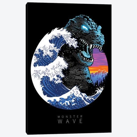 God Monster Wave Canvas Print #APZ398} by Alberto Perez Art Print