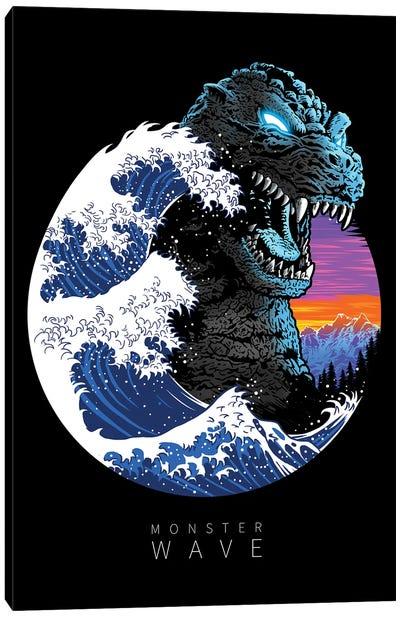 God Monster Wave Canvas Art Print