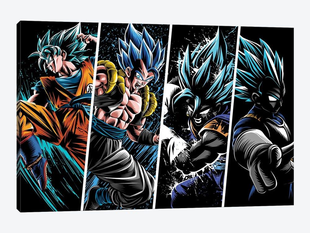 Attack Warriors by Alberto Perez 1-piece Canvas Art Print