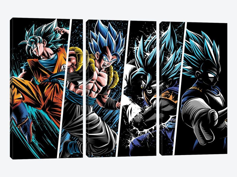 Attack Warriors by Alberto Perez 3-piece Canvas Art Print