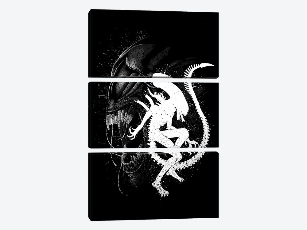 Alien Monster by Alberto Perez 3-piece Canvas Print