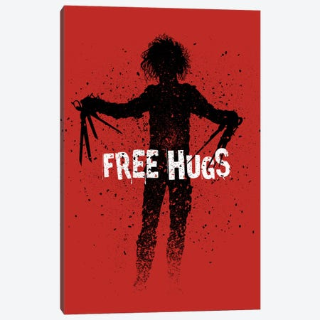 Scissors Free Hugs Canvas Print #APZ424} by Alberto Perez Canvas Wall Art