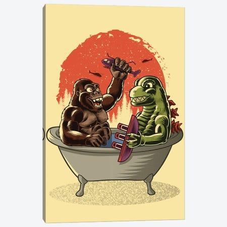 Battle In The Bathtub Canvas Print #APZ42} by Alberto Perez Canvas Art