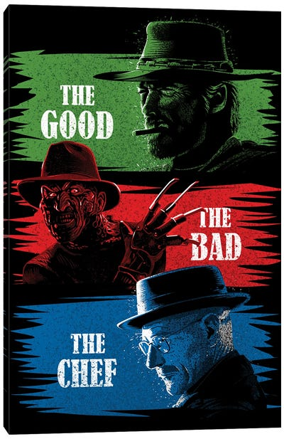 The Good The Bad The Chef Canvas Art Print