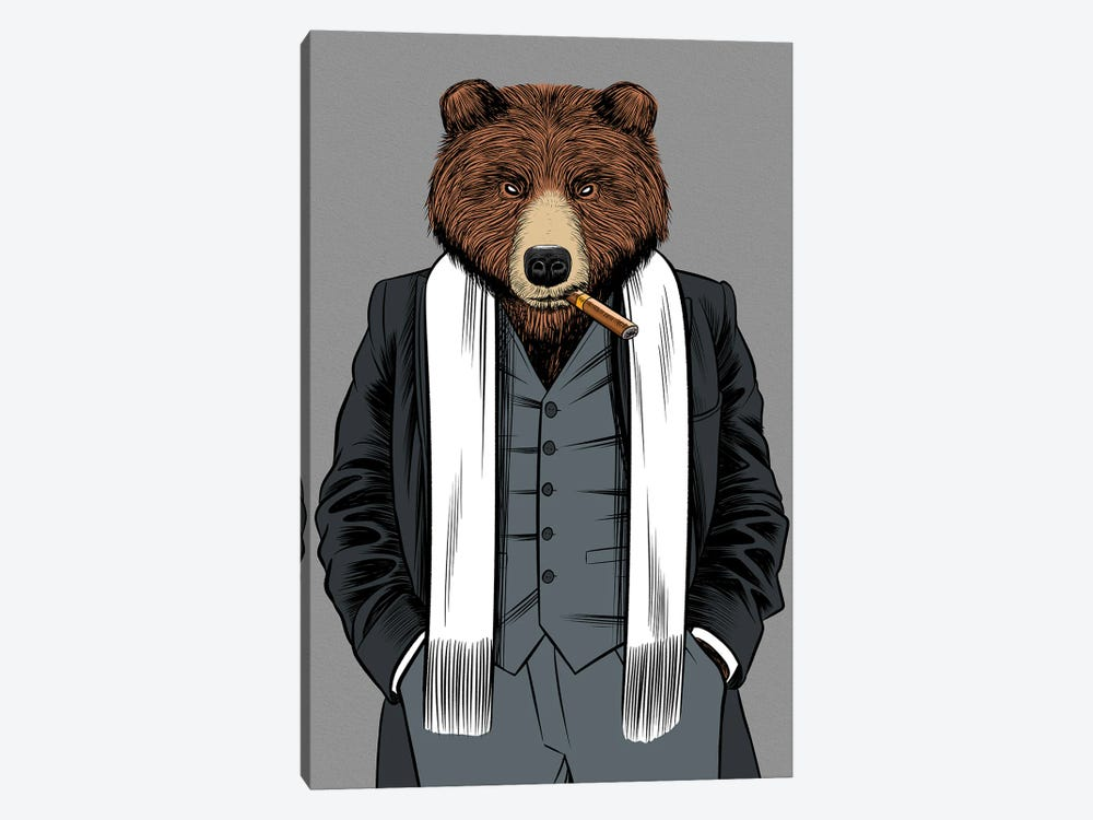 Gangster Grizzly by Alberto Perez 1-piece Canvas Print