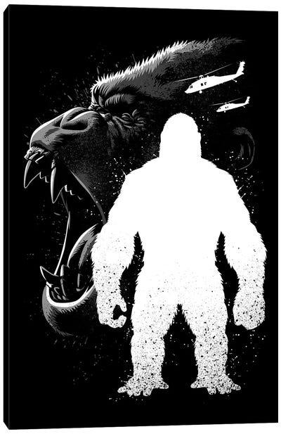 Kong Inking Canvas Art Print