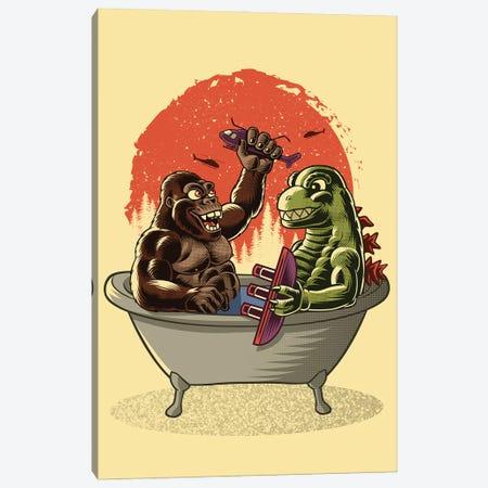 Monster Bath Canvas Print #APZ502} by Alberto Perez Canvas Artwork