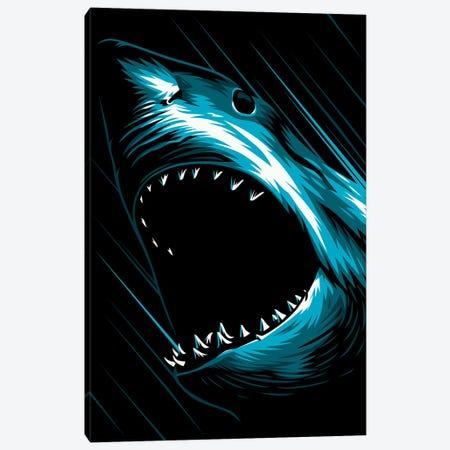 Shark Attack Canvas Print #APZ513} by Alberto Perez Canvas Print