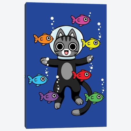 Cat Diving Canvas Print #APZ523} by Alberto Perez Canvas Artwork