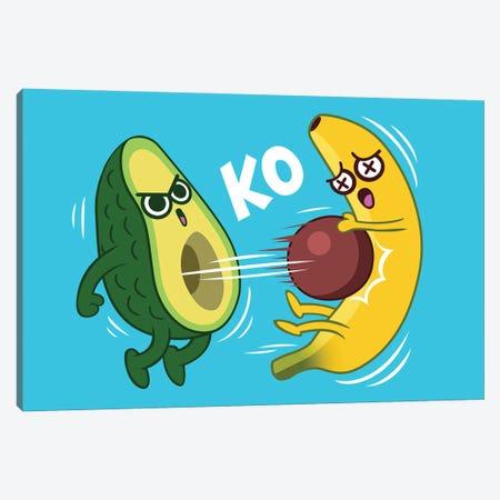 Avocado Vs Banana Canvas Print #APZ524} by Alberto Perez Canvas Print