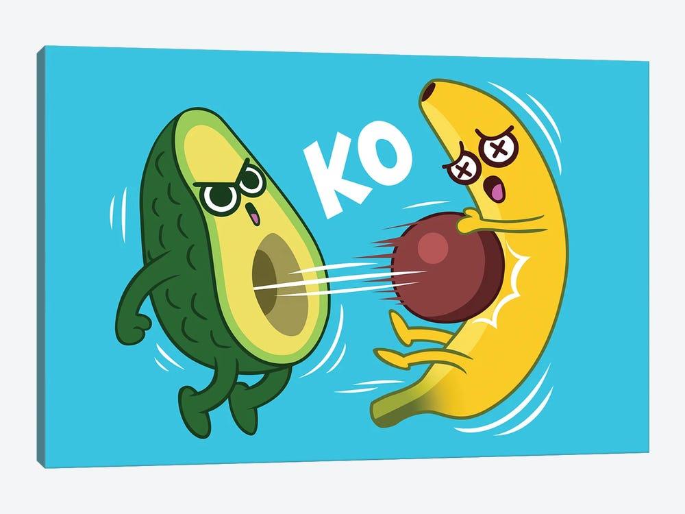 Avocado Vs Banana by Alberto Perez 1-piece Art Print