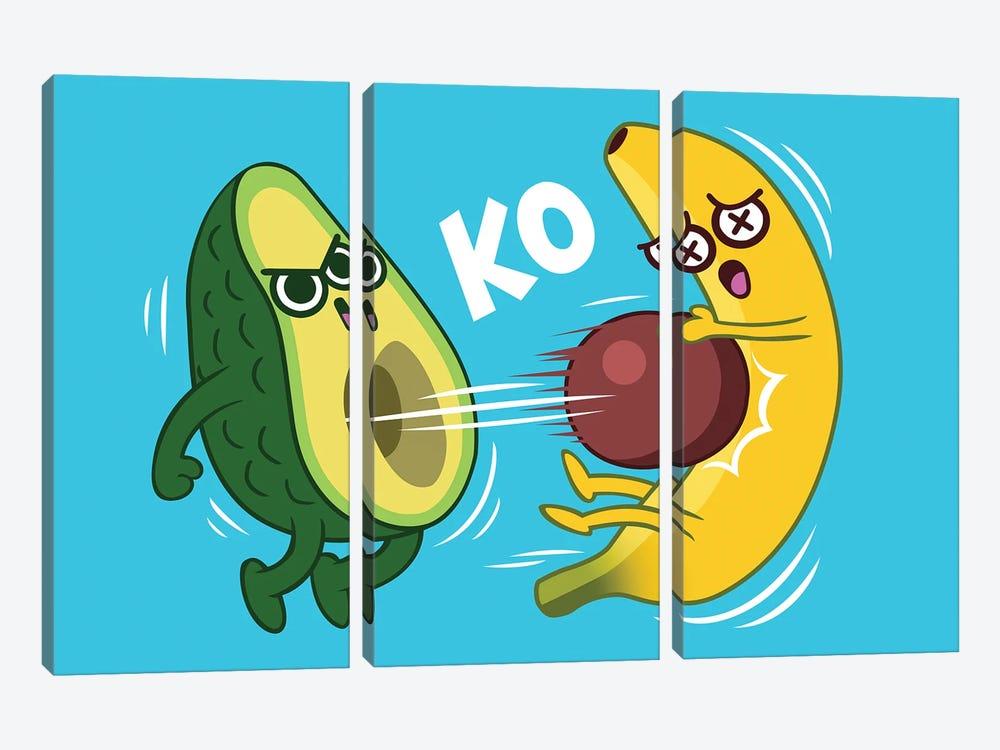 Avocado Vs Banana by Alberto Perez 3-piece Canvas Print