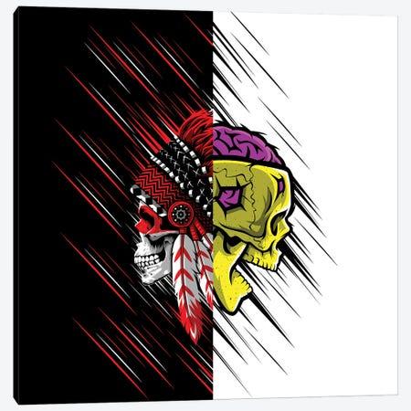 Double Image Of Skulls Canvas Print #APZ538} by Alberto Perez Art Print