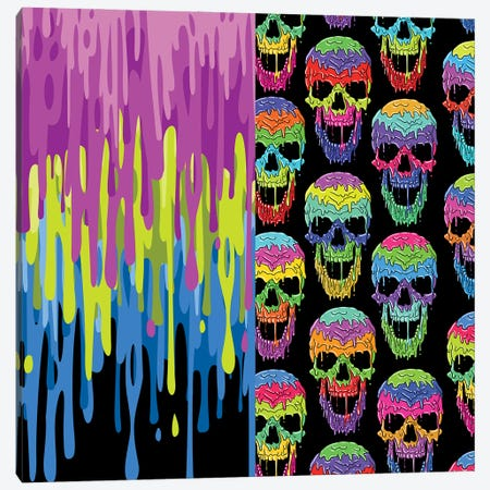 Liquid Skulls Canvas Print #APZ540} by Alberto Perez Canvas Wall Art