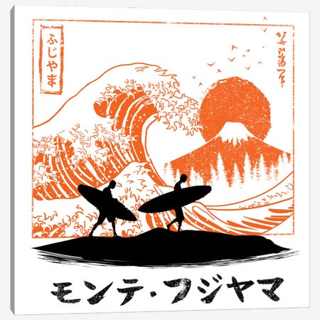 Surfing The Wave In Japan Canvas Print #APZ543} by Alberto Perez Canvas Artwork
