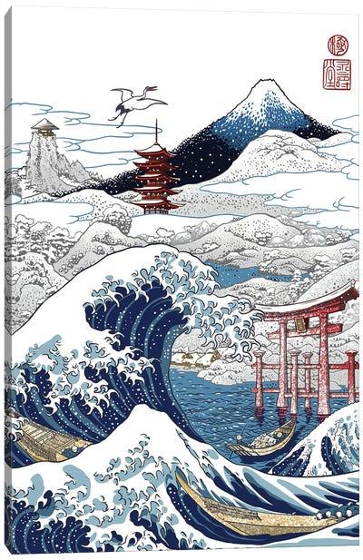Snowy Winter In Japan Canvas Art Print