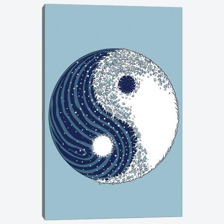 Yin Yang Great Wave Canvas Print #APZ549} by Alberto Perez Canvas Art