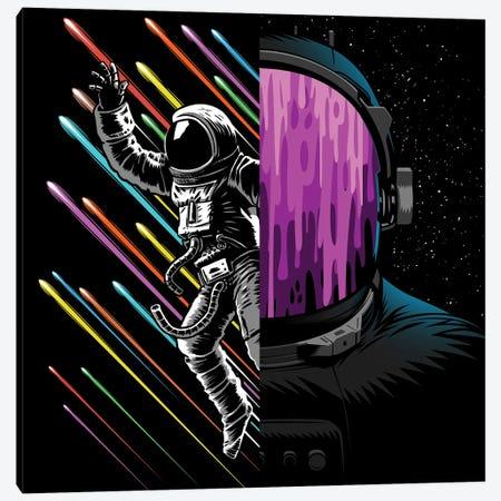 Double Galactic Image Astronauts Canvas Print #APZ551} by Alberto Perez Canvas Art Print