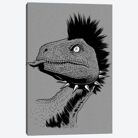 Crested Punk Velociraptor Canvas Print #APZ557} by Alberto Perez Canvas Wall Art