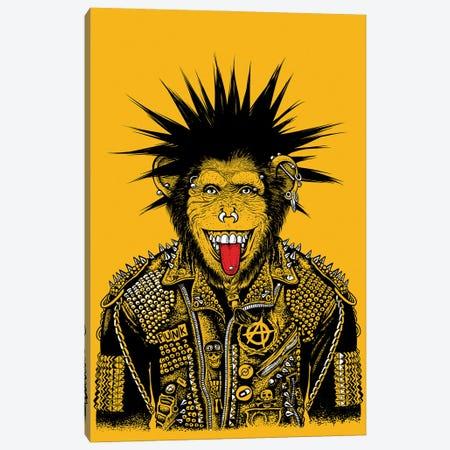 Punk Chimpanzee Canvas Print #APZ558} by Alberto Perez Canvas Art Print