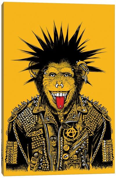 Punk Chimpanzee Canvas Art Print
