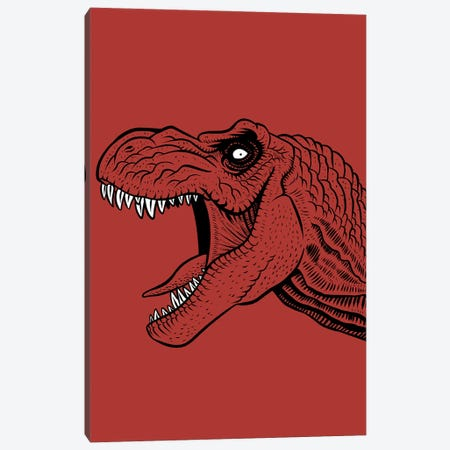 T-Rex Tattoo Canvas Print #APZ562} by Alberto Perez Canvas Wall Art