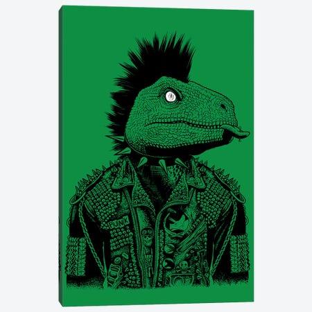 Biker Punk Velociraptor Canvas Print #APZ563} by Alberto Perez Canvas Artwork