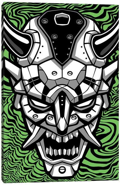Samurai Demon Mask Canvas Art Print