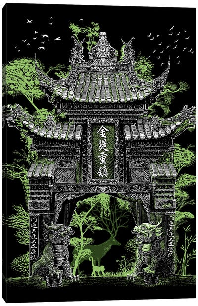 Chinese Temple Gate Canvas Art Print