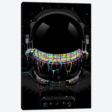 Astronaut With Colorful Paint Canvas Print #APZ584} by Alberto Perez Art Print